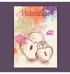 Valentine disco poster Valentine background vector image