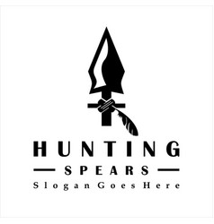 Vintage rustic hipster arrowhead spear hunting vector