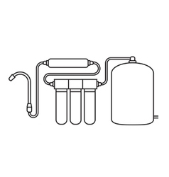 Water filter isolated icon vector