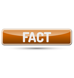 Fact - abstract beautiful button with text vector