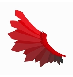 Red wing of devil icon cartoon style vector image vector image