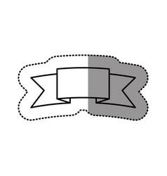 silhouette symbol ribbon icon vector image vector image