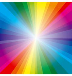 spectrum rays background vector image vector image