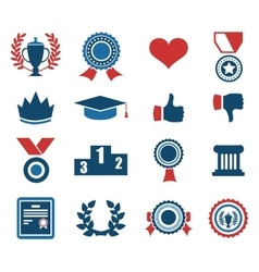 Trophy and prize symbol vector image