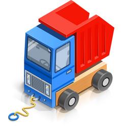 truck wooden toy vector image