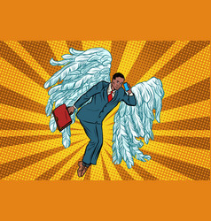 business angel african businessman vector image vector image