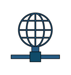 earth globe diagram global communications icon vector image vector image