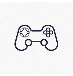 game controller line icon gamepad thin linear vector image vector image