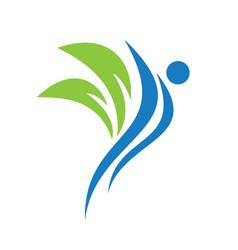 Health and medical logo design vector