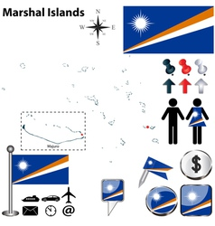 Marshal Islands map vector image