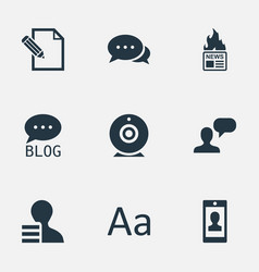 Set of simple newspaper icons vector