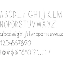 Simple sloppy handwriting vector image