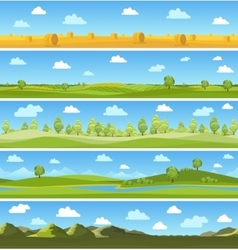 Country landscapes set vector image
