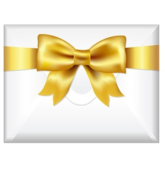 Envelope With Golden Bow vector image vector image