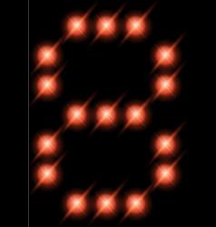 led digits 8 vector image