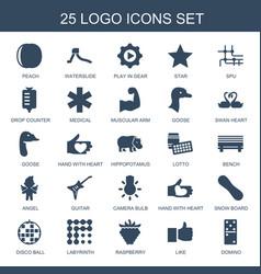 25 logo icons vector