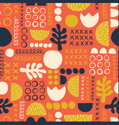 abstract scandinavian style floral feminine summer vector image