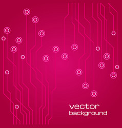 Abstract technological pink background vector