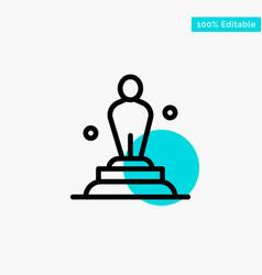 Academy award oscar statue trophy turquoise vector