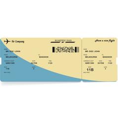 airline passenger boarding pass ticket vector image