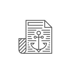 anchor text icon vector image