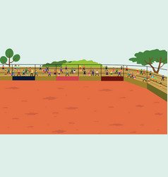 Arena rodeo background vector