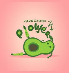 avocado cartoon character doing aerobic exercises vector image