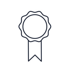 Award ribbon rosette best quality emblem vector