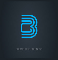 b2b logo busines-to-busines logotype concept vector image