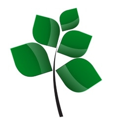 Beautiful Green Tree on a White Background vector