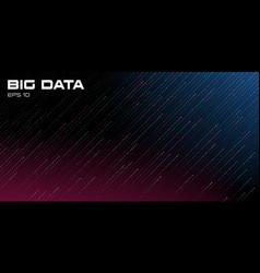 Big data visualization dynamic multicolored vector
