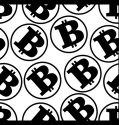 bitcoin seamless monochrome background virtual vector image