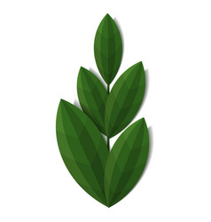 branch of green plant vector image