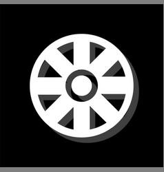 cart wheel icon flat vector image