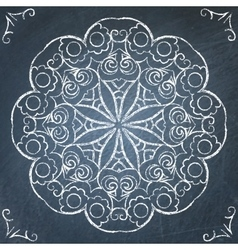 Chalkboard round ornament vector image