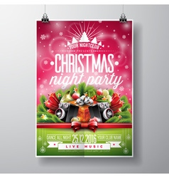 Christmas party with typography vector image