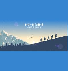 climbing panorama vector image