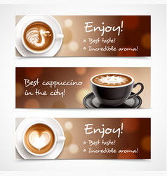 coffee advertising horizontal banners vector image