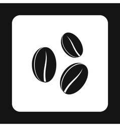 Coffee beans icon simple style vector