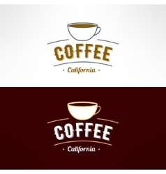 coffee shop logo Restaurant menu design vector image