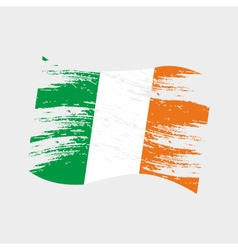 Color ireland national flag grunge style eps10 vector