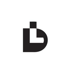Colorful letter dl simple geometric design logo vector