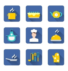 Cooking icons set vector