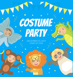 costume party banner festive invitation card vector image