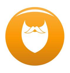 Dense beard icon orange vector