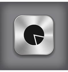 Diagram icon - metal app button vector