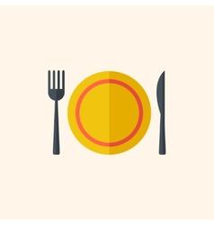 Dinner Travel Flat Icon vector