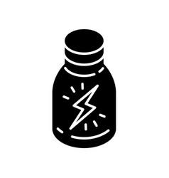 Energy shot black glyph icon vector