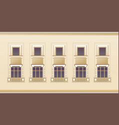 Exterior wall window seamless pattern vector
