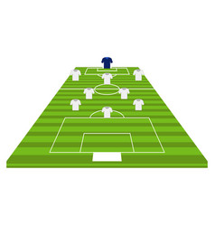 front view of a soccer field vector image